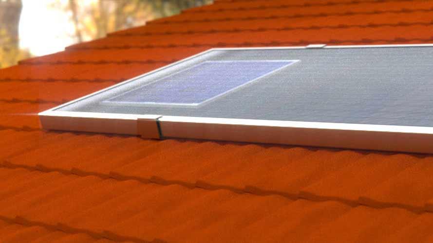 installazione su tetto a tegole