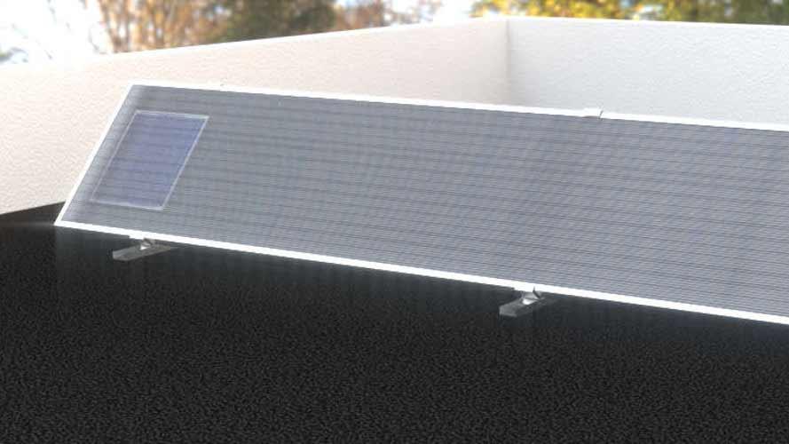 Installazione su tetto piano del collettore ad aria